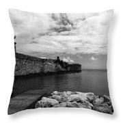 Island Fortress  Throw Pillow