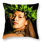 Island Girl 2 Throw Pillow