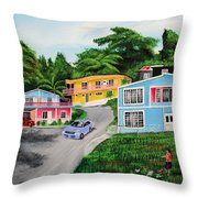 Island Hillside Living Throw Pillow