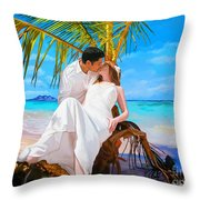 Island Honeymoon Throw Pillow