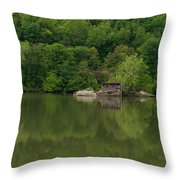 Island House On New River - West Virginia Throw Pillow