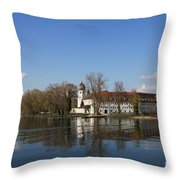 Island In The Lake Throw Pillow