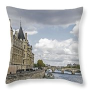 Island In The Seine Throw Pillow