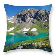 Island Lake And U.s. Grant Peak Throw Pillow