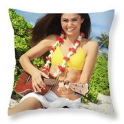 Island Music II Throw Pillow
