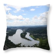 Island Nonnenwerth With Cloister Throw Pillow