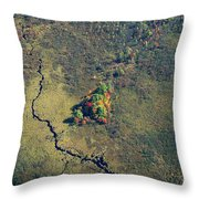Island Of Fall Color Throw Pillow