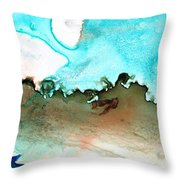Island Of Hope Throw Pillow by Sharon Cummings