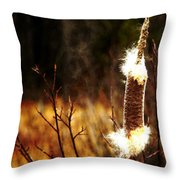Island Park Cattail Throw Pillow