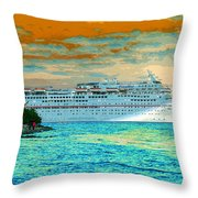Island Passage Throw Pillow