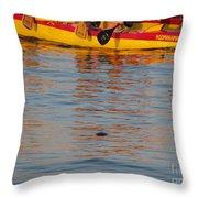 Island Racing Throw Pillow