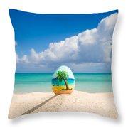 Island Style Easter Egg Throw Pillow