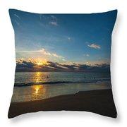 Coastal Beach Sunrise Throw Pillow