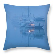 Islands And Boats In The Pacific Ocean Throw Pillow
