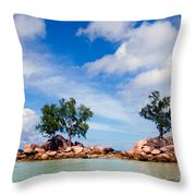 Islands And Clouds, The Seychelles Throw Pillow
