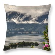 Islands And Flowers Throw Pillow