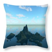 Isle And Sea... Throw Pillow