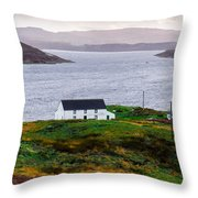 Isle Of Skye Cottage Throw Pillow