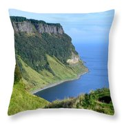 Isle Of Skye Sea Cliffs Throw Pillow
