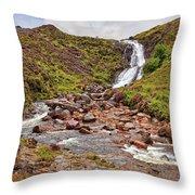 Isle Of Skye Waterfall Throw Pillow