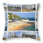 Isle Of Wight Collage - Plain Throw Pillow