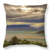 Isles Of Eigg And Rum Throw Pillow