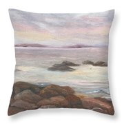 Isles Of Shoals From Odiorne Point Throw Pillow