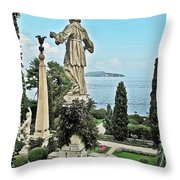 Isola Bella And Lake Maggiore Throw Pillow
