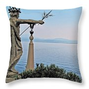 Isola Bella Lookout Throw Pillow