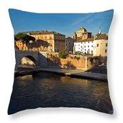 Isola Tiberina Throw Pillow