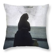 Isolated Woman Throw Pillow