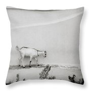 The Surreal Goat Throw Pillow
