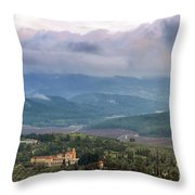 Israel Latron Monastery And Winery Throw Pillow