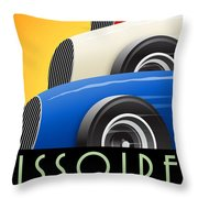 Issoire France Grand Prix Historique Throw Pillow