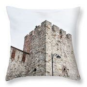 Istanbul City Wall 01 Throw Pillow