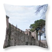 Istanbul City Wall 03 Throw Pillow