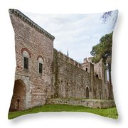 Istanbul City Wall 04 Throw Pillow