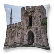 Istanbul City Wall 05 Throw Pillow