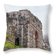 Istanbul City Wall 06 Throw Pillow