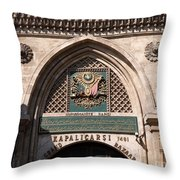 Istanbul Grand Bazaar 01 Throw Pillow