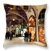 Istanbul Grand Bazaar 12 Throw Pillow