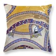 Istanbul Grand Bazaar Interior Throw Pillow