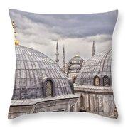 Istanbul Landmarks  Throw Pillow