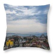 Istanbul Panorama Hdr Throw Pillow