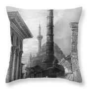 Istanbul: Porphyry Column Throw Pillow