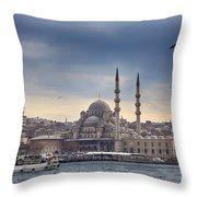 Istanbul Skyline Throw Pillow
