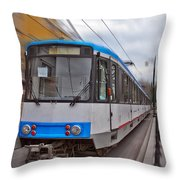 Istanbul Tram In Motion Throw Pillow