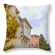 Istanbul Wooden Houses 01 Throw Pillow