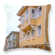 Istanbul Wooden Houses 02 Throw Pillow