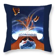 It Begins Throw Pillow